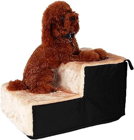 LIUYUN Escaleras para Mascotas, Pasos De 3/2, Cubierta Acolchada, Gatos Antideslizantes Y Perros Pequeños Animales De Edad Fácil De Subir Escaleras Asistencia (Size : 2-Step): Amazon.es: Hogar