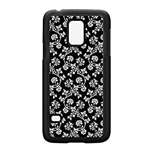 Black & White Flowers Black Hard Plastic Case Snap-On Protective Back Cover for Samsung? Galaxy S5 Mini by Skins4things + FREE Crystal Clear Screen Protector