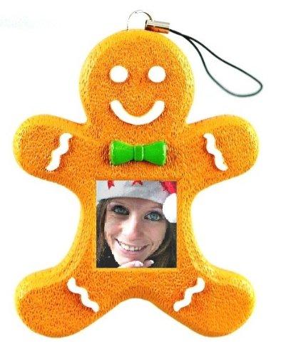 ZOpid 1.5 Inch Display Digital Photo Ornament - Gingerbread Man Photo Frame (Gingerbread Man Photo Frame Ornaments)