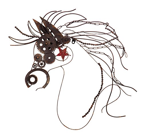 Horse Kitchen Decor (Cape Craftsmen Rustic Large Metal War Horse Wall Decor With Bike Chain)