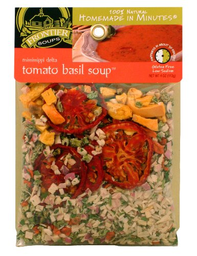 Gourmet Tomato - Frontier Soups Homemade In Minutes Mississippi Delta Tomato Basil Soup, 4.0-Ounce Bags (Pack of 4)