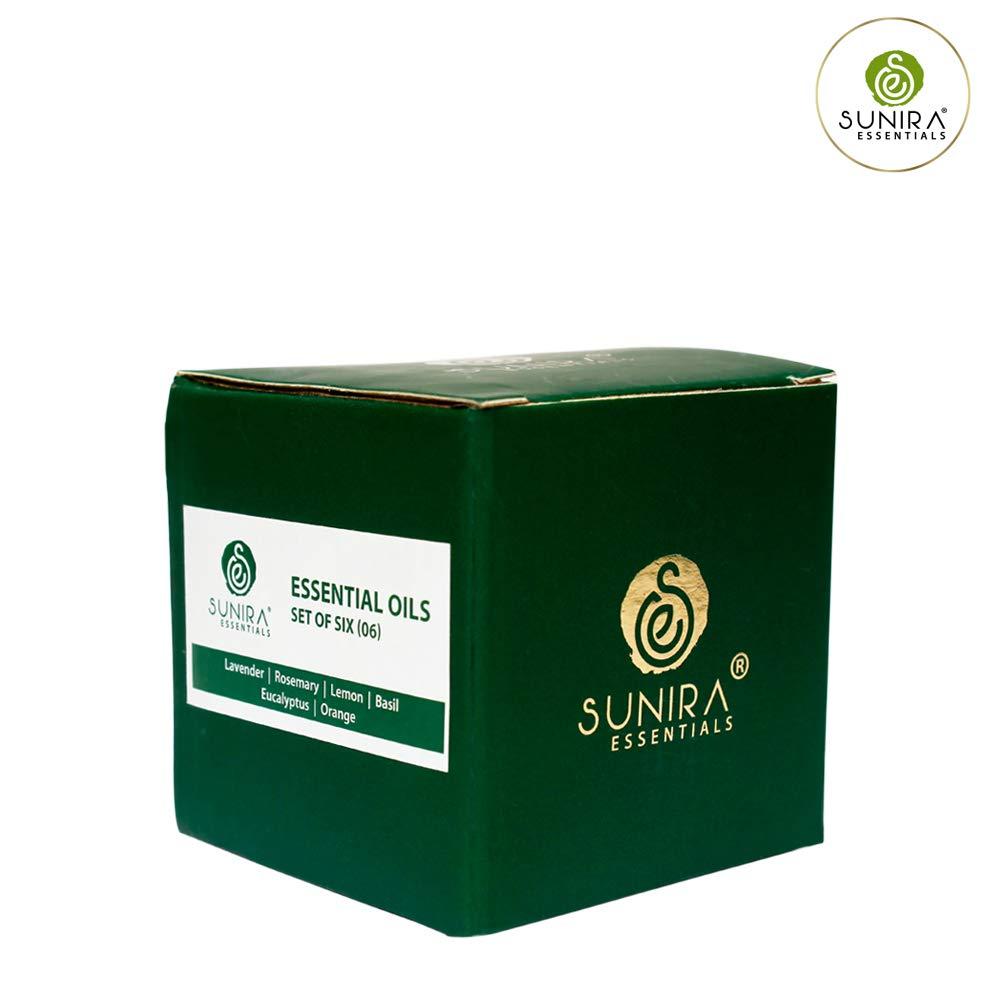 SUNIRA Essential Oil Gift Set of 06, Therapeutic Grade, 100% Pure Essential Oils (Lavender, Rosemary, Basil, Lemon, Eucalyptus & Orange) by SUNIRA (Image #4)