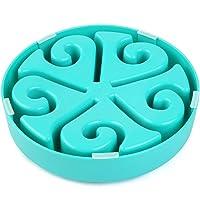 Queta Futternapf für Hunde und Katzen, langsames Futternapf, für langsames Fressen, Anti-Milben blau blau