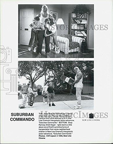 "1990 Urgency Photo Hulk Hogan, Michael Faustino, Laura Mooney ""Suburban Commando"""