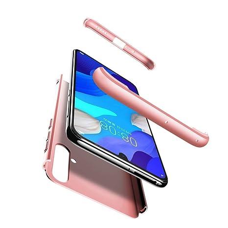 Funda Huawei Nova 5/Nova 5 Pro Carcasa Huawei Nova 5 Pro[Protector de Pantalla de Vidrio Templado]3 en 1 Desmontable Anti-Arañazos Nova 5 Funda ...