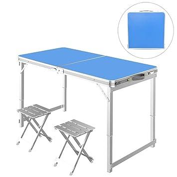 ZDYLM-Y Mesa Plegable Camping Aluminio, Mesa Plegable de Aluminio ...