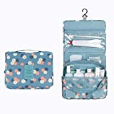 Happy Hours - Portable Waterproof Organizer Storage Wash Bag Makeup Hanging Pouch / Multifunction Waterproof Toiletry Kit Cosmetics Case for Outdoor Indoor Household Travel Camping Hiking(Blue)