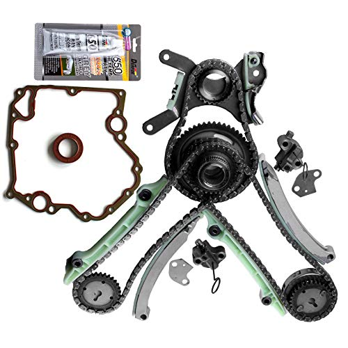 AUTOMUTO Timing Chain Kit TCS46000 Cover Gasket fits for 2007 2008 2009 2010 Dodge Dakota 4.7L 285Cu. in. V8 Flex SOHC Naturally Aspirated