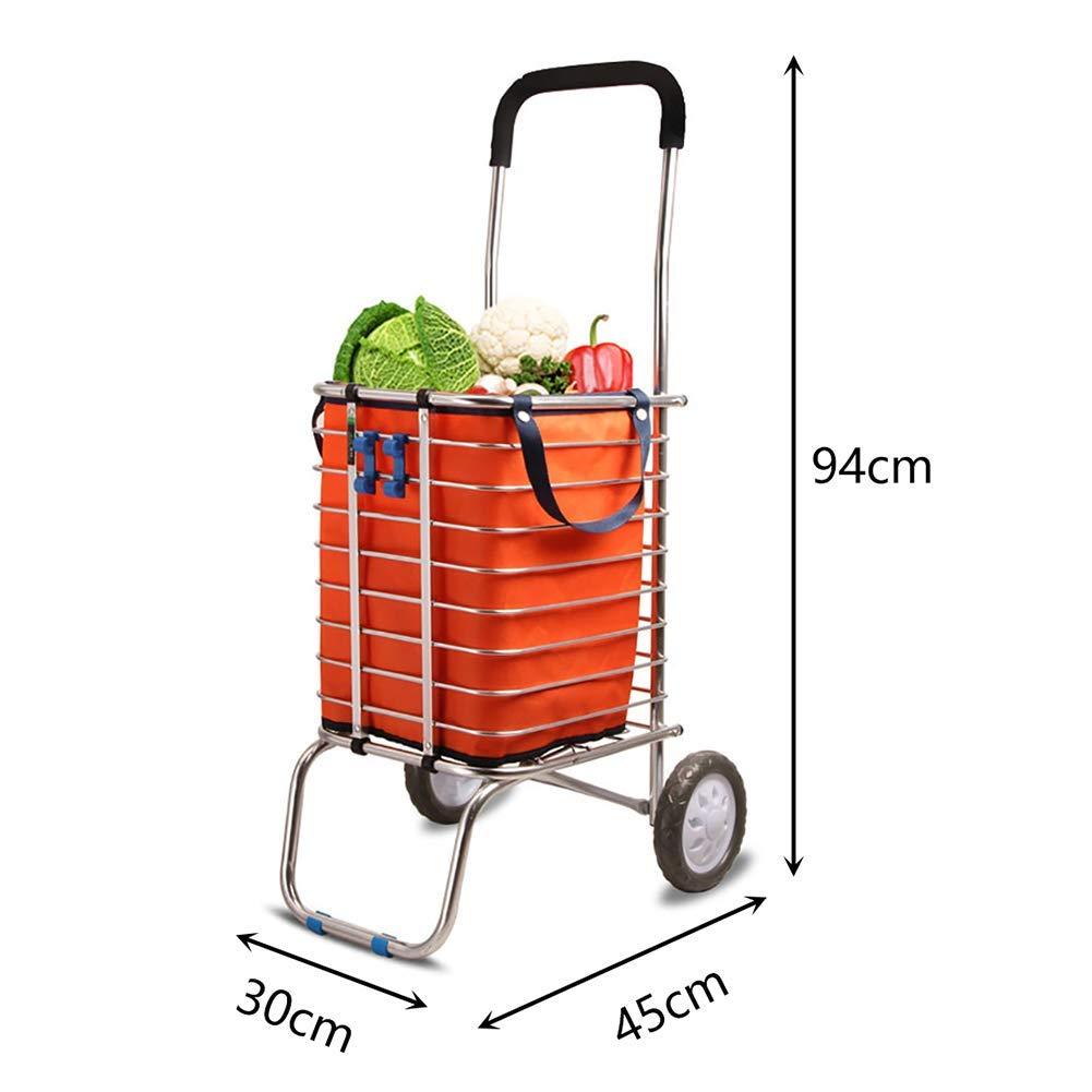 ec0e9b24afdc Shopping cart folding food cart trolley car old small trailer ...