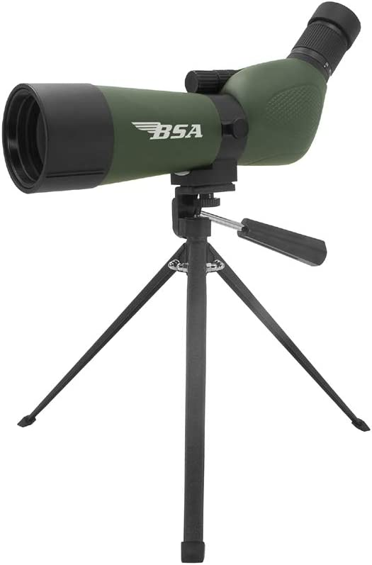 Gamo BSA Optics Spotting Scope 20X-60X, 60mm Objtive with Tripod and Carrying case, Multi (SS2060X60G)