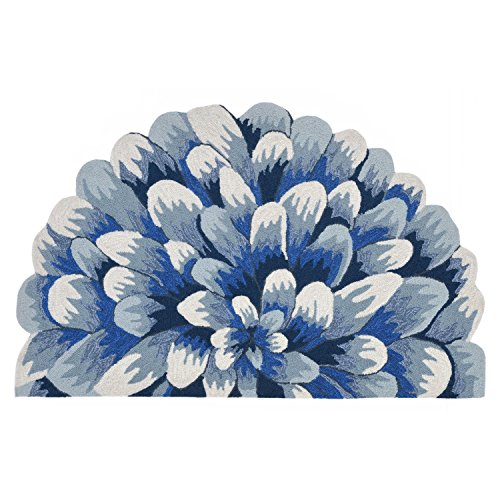 Liora Manne FT1H1B02303 Whimsy Flower Burst Rug, Indoor/Outdoor, 20