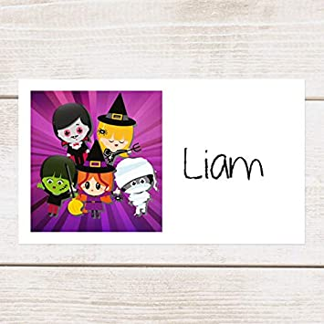 Kids Halloween Dotty about Paper Halloween Party Invitations Pack of 10