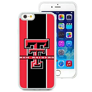Beautiful Designed With NCAA Big 12 Conference Big12 Football Texas Tech Red Raiders 10 Protective Cell Phone Hardshell Cover Case For iPhone 6 4.7 Inch TPU Phone Case White