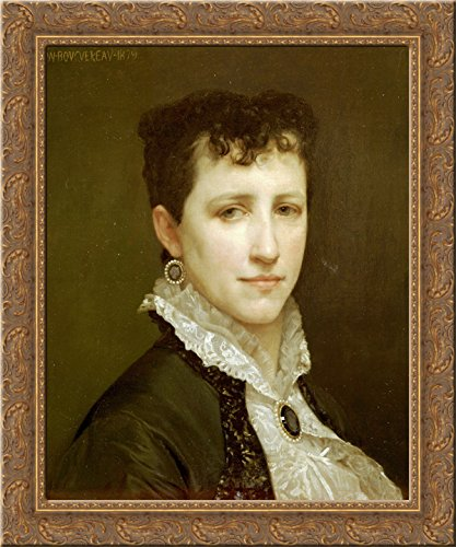 - Portrait of Miss Elizabeth Gardner 24x20 Gold Ornate Wood Framed Canvas Art by William-Adolphe Bouguereau