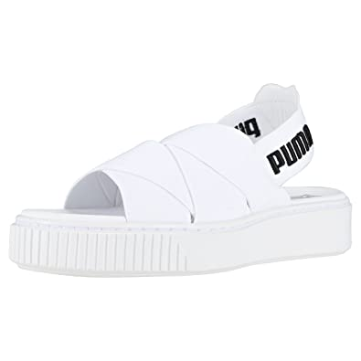 d3f37bd07d45 Puma Platform Sandal Sandals White  Amazon.co.uk  Shoes   Bags