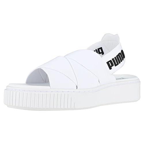 591243e0f01 Puma Platform Sandal Sandals White  Amazon.co.uk  Shoes   Bags