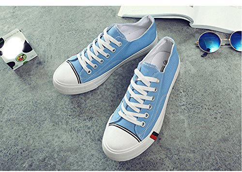 Shoes Canvas Casual Sports Women Ups Men Blue and Unisex for 02 Sneaker Low Cut Trainers Shoes Lace Amint Fashion tEnqaPz8wt