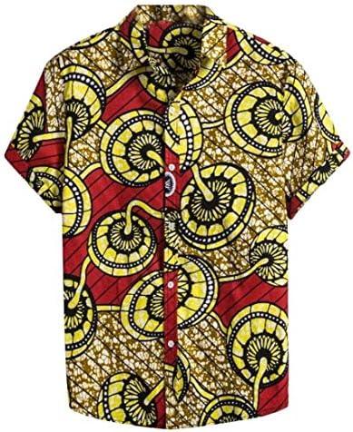 Camisas africanas de Seguridad para Hombre con Botones y Manga Corta Dashiki Tribal 1 US XL: Amazon.es: Ropa y accesorios