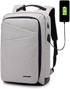 Mens business Backpack anti-theft Large Capacity Versatile Computer Bag with USB charger outlet