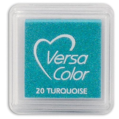 Tsukineko Small-Size VersaColor Ultimate Pigment Inkpad, Turquoise