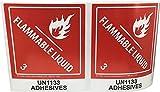 Hazard Class 3 D.O.T. UN1133 Adhesives Flammable