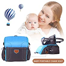 Multi-Function Portable Folding Travel Nursery Travel Booster Seat Shoulder Backpack Diaper Bag Large Capacity Maternal and Infant Waterproof Predelivery Booster Seat