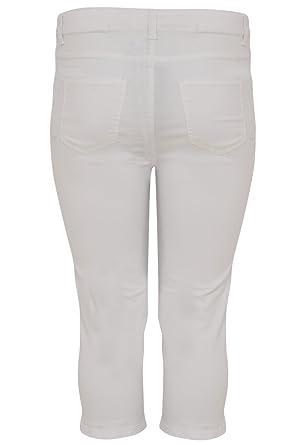 879d255811c Yoek Femme Grande Taille Pantacourt en Denim  Amazon.fr  Vêtements ...