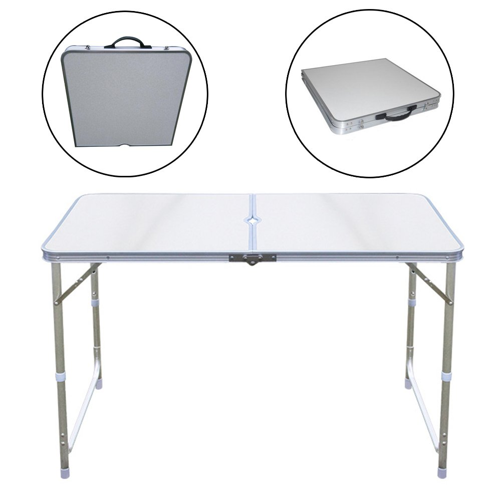Multiware Aluminum Rectangle Camping Folding Table Protable Adjustable Garden Outdoor Picnic Table oem