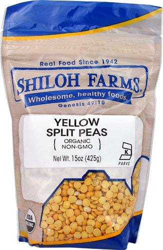 Shiloh Farms Organic Yellow Split Peas -- 15 oz - 2 pc
