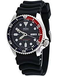 Divers Automatic Black/Blue Dial Black Rubber Mens Watch SKX009J1