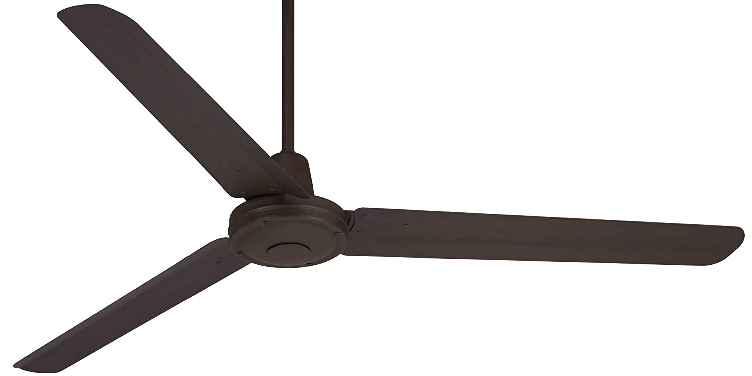 60 Turbina Modern Industrial Outdoor Ceiling Fan with Light Remote Control Oil Rubbed Bronze Damp Rated for Patio Porch – Casa Vieja