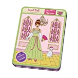 Mudpuppy Royal Ball Princess Magnetic Figures & Sheets – Dress-Up Doll Toy with Magnets & Tin Box for Portable Travel