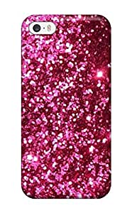 First-class Case Cover For Iphone 5/5s Dual Protection Cover Glittery Pink Red (3D PC Soft Case)