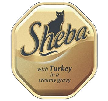 Sheba Cat Food Tray Fine Recipes Turkey in White Sauce 100g (Pack of 16)