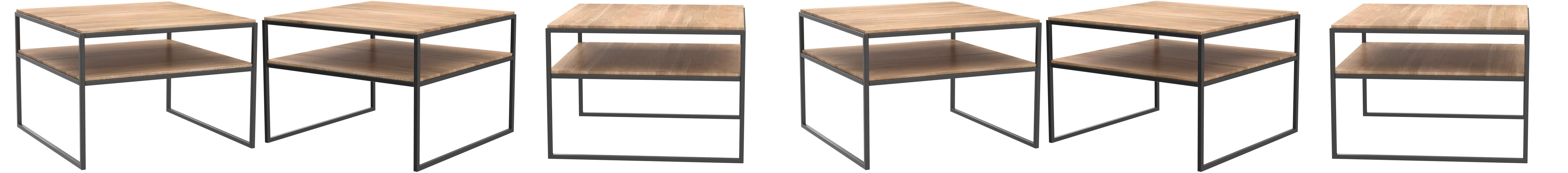 Holz L/änge braun Breite 65cm H/öhe 45cm HomeTrends4You Mika 1 Couchtisch//Beistelltisch
