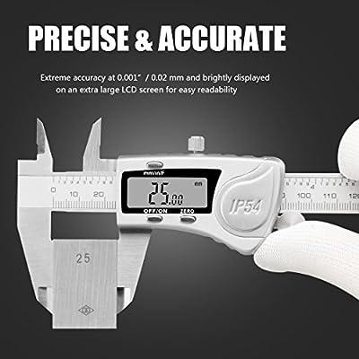 Digital Caliper 6 In Micrometer Measuring Tool Polishing Finish Stainless Steel