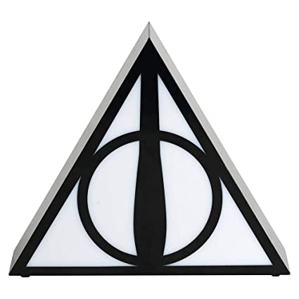 a01703be2 Amazon.com: Harry Potter Deathly Hallows Novelty LED Desk Light: Home Audio  & Theater