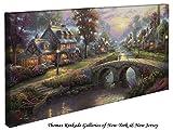 "Sunset on Lamplight Lane - Thomas Kinkade 16"" X 31"" Gallery Wrapped Canvas"