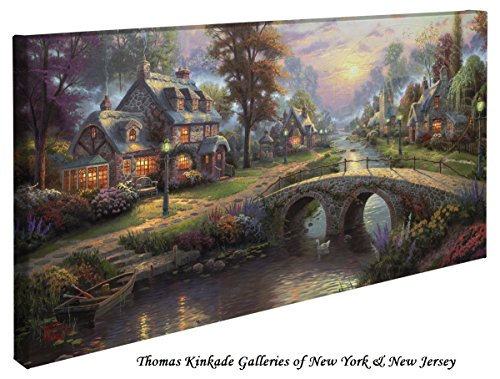 Sunsets Gallery (Sunset on Lamplight Lane - Thomas Kinkade 16