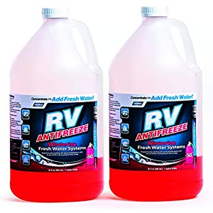 Camco RV Antifreeze Concentrate - 36 ounces of Concentrate Makes 1 Gallon of Antifreeze, Just Add Fresh Water, Great for Use in RVs, Boats, Vacation Homes and Pools - Pack of 2