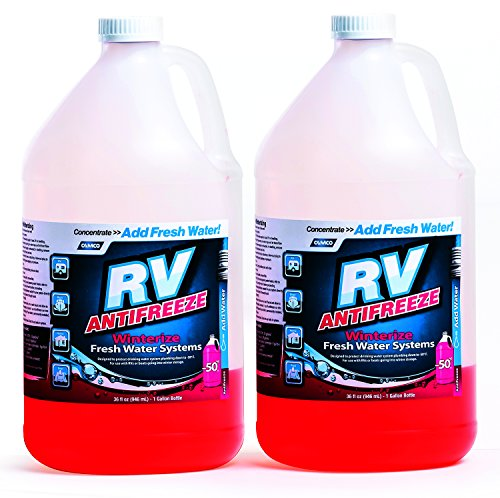 Camco RV Antifreeze Concentrate - 36 ounces of Concentrate Makes 1 Gallon of Antifreeze, Just Add Fresh Water, Great for Use in RVs, Boats, Vacation Homes and Pools - Pack -