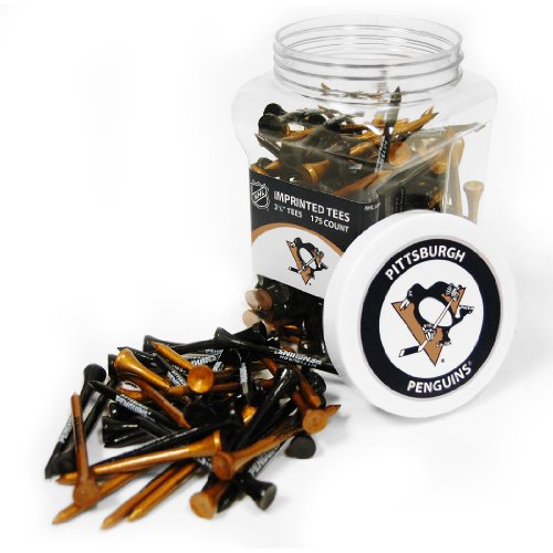 Team Golf NHL Pittsburgh Penguins 2-3/4 Golf Tees, 175 Pack, Regulation Size, Multi Team Colors