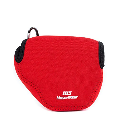MegaGear Ultra Light Neoprene Camera Case Bag with Carabiner for Canon PowerShot SX510, SX420 IS, SX410 IS, SX400 (Red)