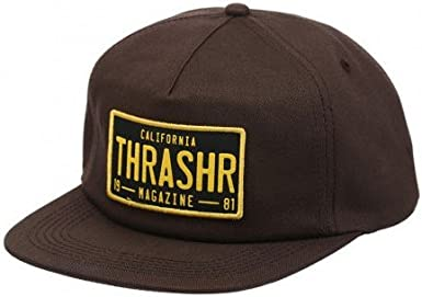 Gorro Snapback Thrasher Dmv Marron (Default, Marron): Amazon.es ...