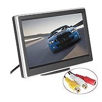 BW 5 Zoll-HD TFT LCD Auto-Monitor mit zwei Videoeingang, hoch-Auflösung 800 * 480 Auto-Rückspiegel-Parken-Monitor und farbenreiche LCD-Hintergrundbeleuchtung-Anzeige für Auto-hintere Ansicht-Kameras / Auto DVD / VCD / GPS / andere videogeräte
