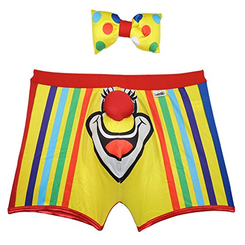 CandyMan 99072 Candyman Clown Costume Outfit Long Boxer. Color Multi-colored Size L