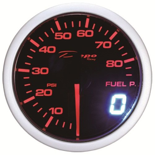 Depo Racing Red white LED Digital fuel Pressure Gauge (Digital Autometer compare prices)