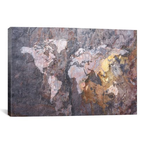 on Stone Background Canvas Art Print by Michael Thompsett, 18 by 12-Inch ()