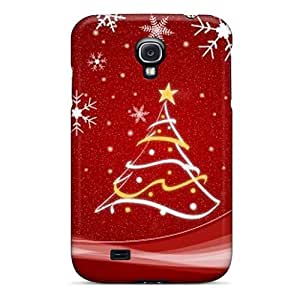 Awesome VMJAPHx8166fiTPY Mialisabblake Defender Tpu Hard Case Cover For Galaxy S4- Red Christmas