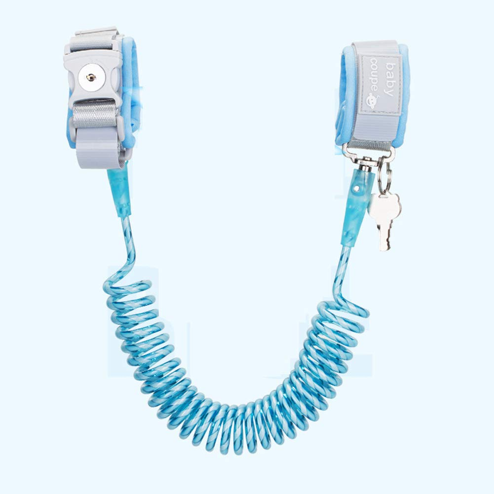 MQC Anti-Theft Lock Child Anti-Lost with Traction Rope Baby Anti-Lost Bracelet,Blue,1.5m